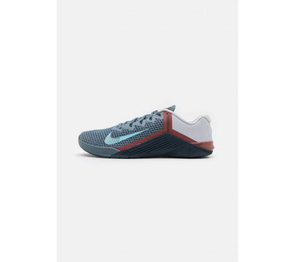 Nike Performance METCON 6 UNISEX - Sports shoes - ozone blue/bleached aqua/pure platinum/deep ocean/claystone red/blue