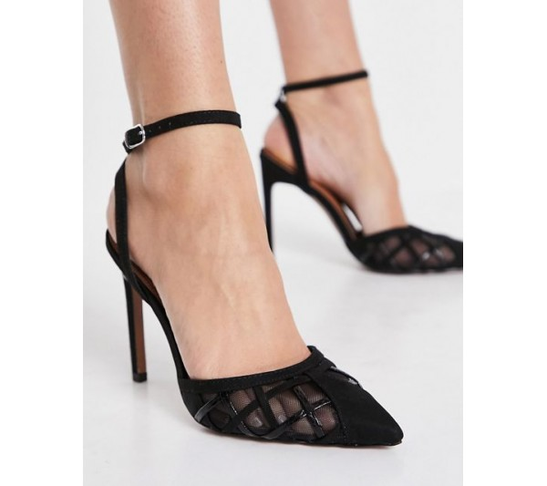 DESIGN Pansy cut out high heeled shoes in black