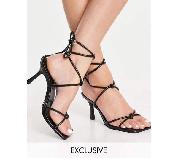Z_Code_Z Exclusive Ava strappy heeled sandals in black