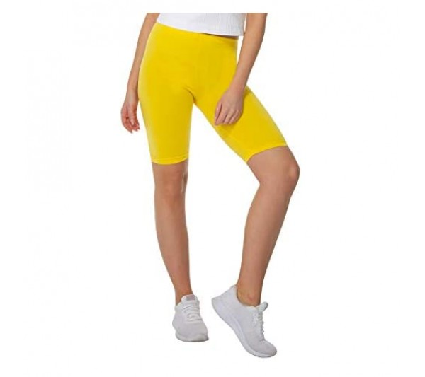 BeComfy Women's Shorts Leggings Short Ladies Cycling Cotton Opaque Length Knee 20 Colors Sizes S-8XL