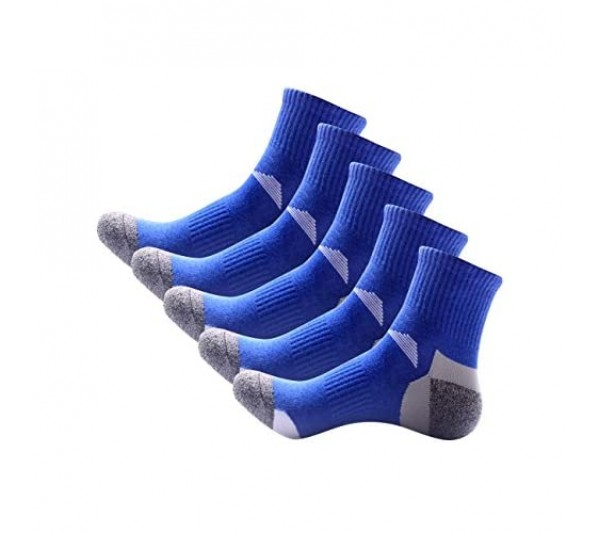 5 Pairs of Mens Ultimate Work Trainer Socks with Re-inforced Heel and Toe Quarter Socks Eur 39-43