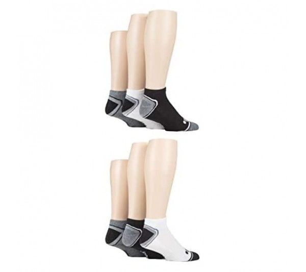 Jeep Mens Performance Cushioned Trainer Socks Gift Box Pack of 6