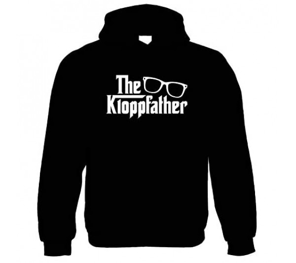 The Kloppfather Funny Hoodie | Liverpool Arsenal Chelsea Manchester United City | Humour Laughter Sarcasm Jokes Messing Comedy | Sports Gift Him Her Birthday
