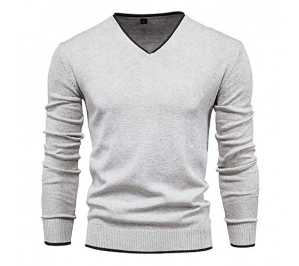 CFWL Sweater Men's Knitwear Solid Color Long Sleeve Pullover V-Neck Sweater Winter Outdoor Camouflage Softshell Jacket Fleece Lining Jacket Adults Unisex Mens Ladies Womens Vintage