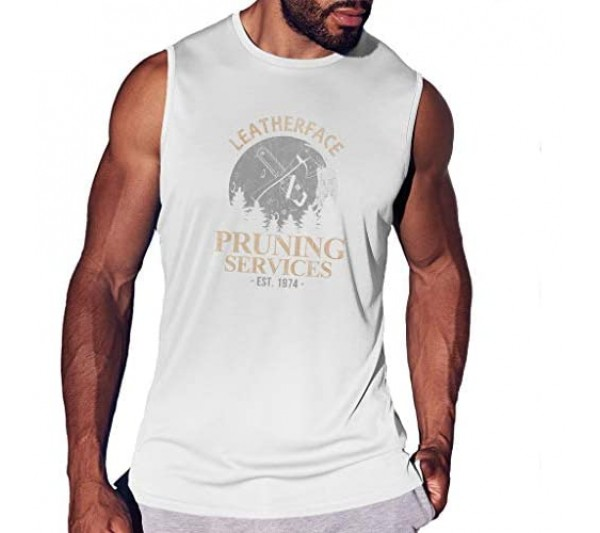 Texas Chainsaw Massacre Leatherface Pruning Services Men's Smooth Sports Vest