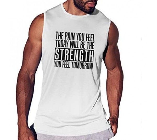 The Pain You Will Feel Will Be Your Strength Tomorrow Men's Smooth Trainings Vest