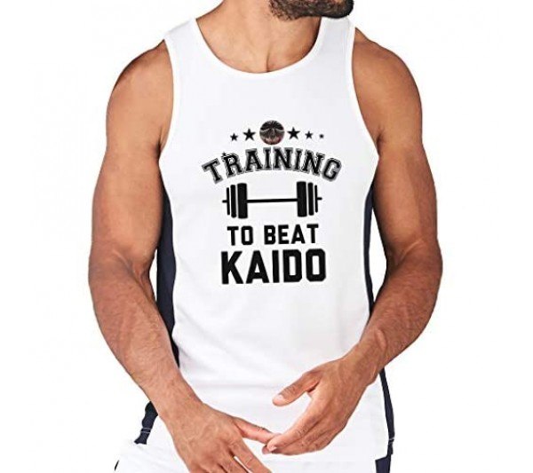 Training to Beat Kaido One Piece Men's Contrast Performance Vest