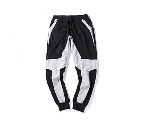 Men's Personality Color Matching Sweatpants Fitness Exercise Fashion Loose Large Size Beam Foot Casual Basic Trousers