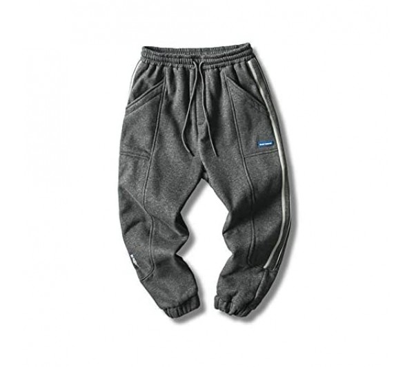 Men's Side Striped Sweatpants Fashion Versatile Loose Casual Comfortable Fitness Exercise Tapered Basic Trousers