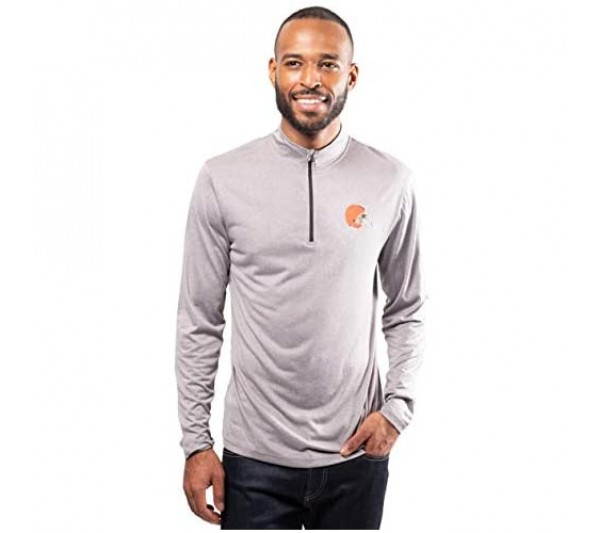 Ultra Game Men's Active Quarter Zip Pullover Shirt Long Sleeve Tee Heather Charcoal Small