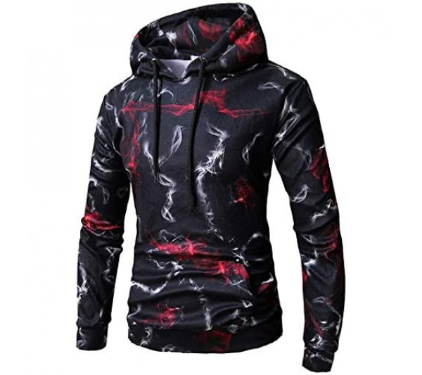 Unisex Pullover Hoodie for Men Women Long Sleeve Drawstring Hooded Sweatshirts with Pockets Unisex Hoodies HD 3D Print Pullover Lightweight Hoodie Cool Lightweight Pullover Hooded Sweatshirt