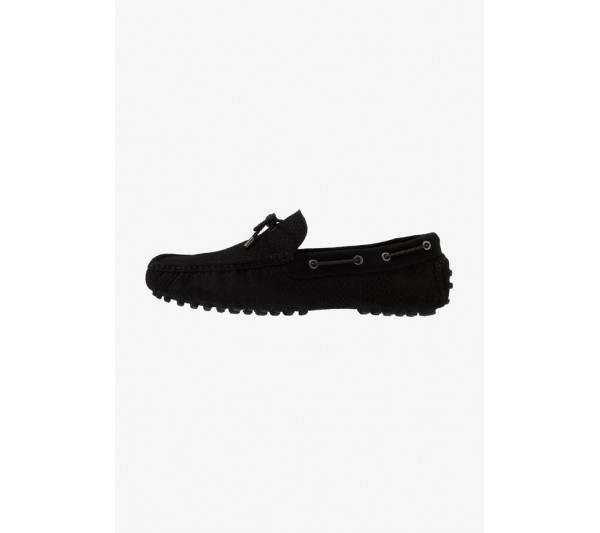 Pier One LEATHER - Moccasins - black