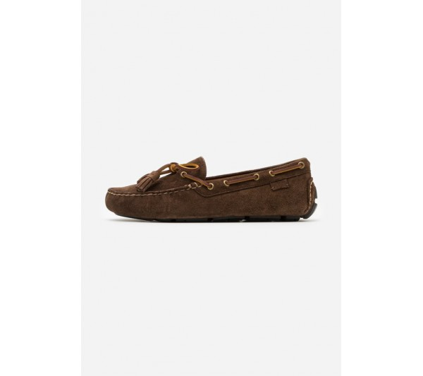 Polo Ralph Lauren ANDERS LOAFR DRIVER - Moccasins - chocolate brown/dark brown