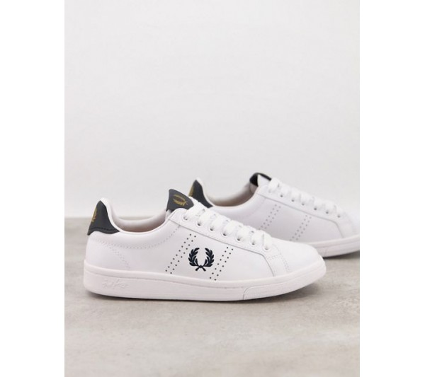 Fred Perry 721 leather trainer in white
