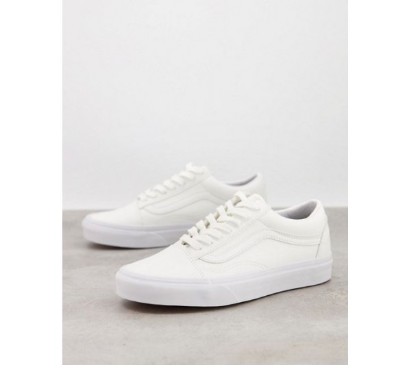 Vans Old Skool faux leather trainers in white