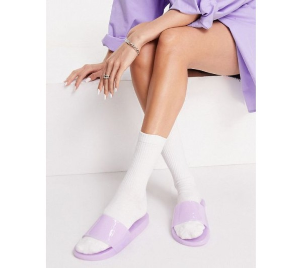 South Beach jelly slides in lilac