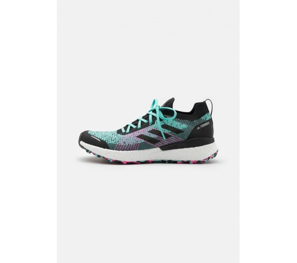 adidas Performance TERREX TWO ULTRA PRIMEBLUE - Trail running shoes - acid mint/core black/screaming pink/mint