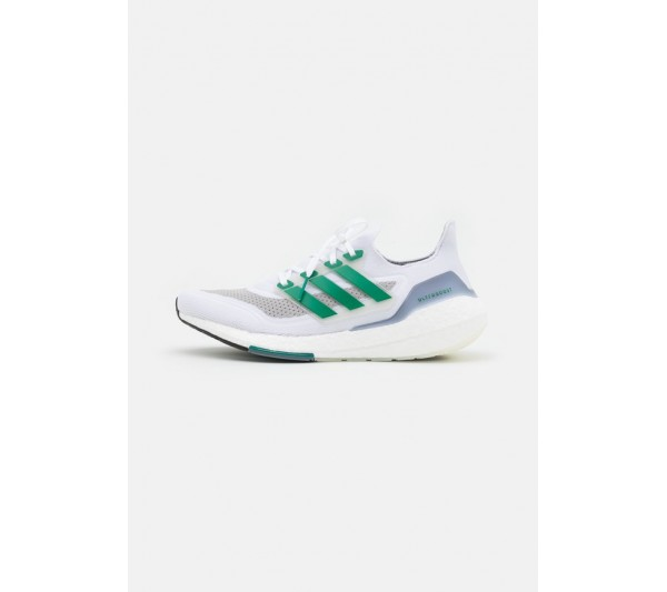 adidas Performance ULTRABOOST 21 - Neutral running shoes - footwear white/sub green/core black/white